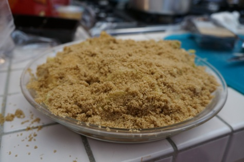 Apple pie with crumble