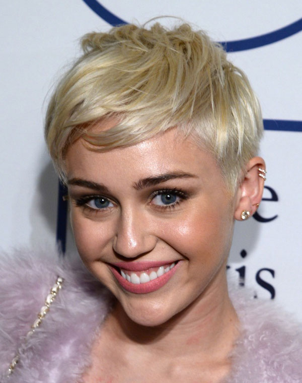 Miley Cyrus at the Clive Davis Pre-Grammys Gala 2014 beauty