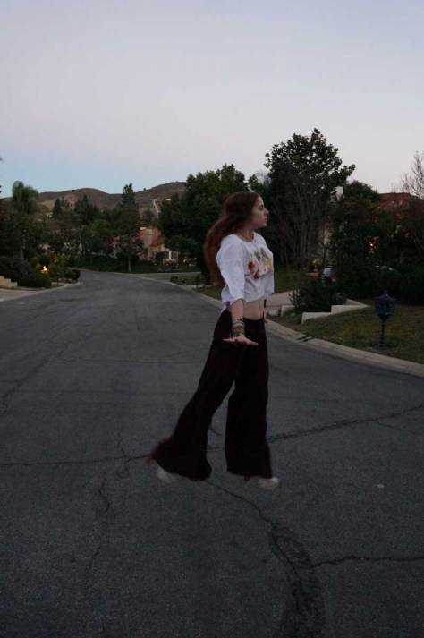 jump fashion picture almost famous free people flare pants
